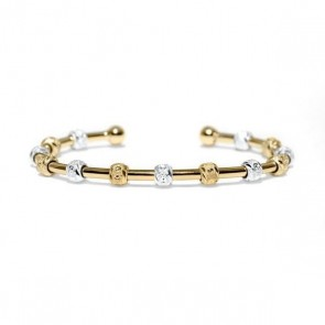 Golf Goddess Stroke Counter Bracelet - Two Tone Gold and Silver